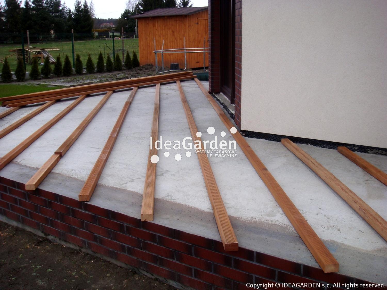 Drewniany Taras Na Betonie Wylewce Konstrukcja