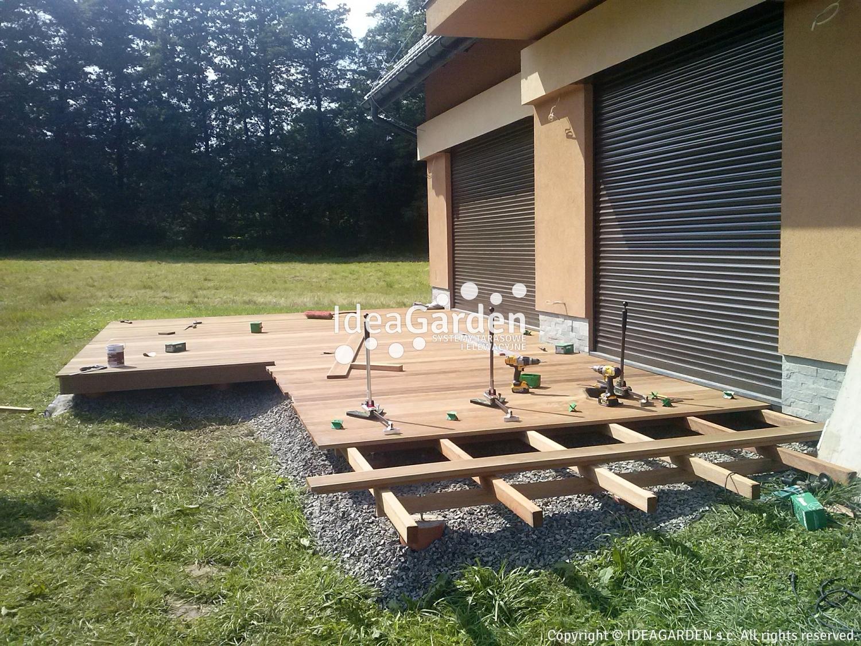 Drewniany Taras Na Gruncie Ziemi Konstrukcja Ideagardenpl