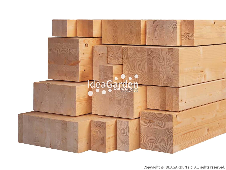 Drewno klejone BSH 200x200 [mm] - dł. 5,0 m
