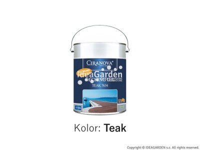 Olej do tarasów - Ciranova Decking Oil Teak - 2,5L