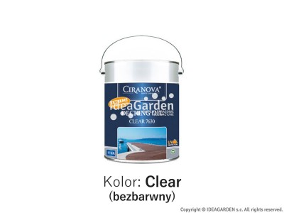Olej do tarasów - Ciranova Decking Oil Clear - 2,5L