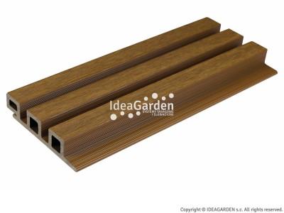 Deska elewacyjna ULTRASHIELD UH46 25x121,5[mm] (Teak) - dł. 2,8 m