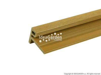 Kątownik kończący UH50 75x53,2 [mm] (Oak) - dł. 2,8 m